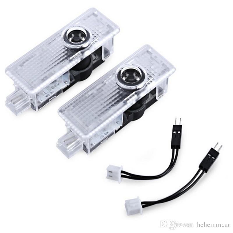 Простая установка Светодиодная лампа для проектора с автомобильной дверью Ghost Shadow Lights для BMW 1 с адаптером