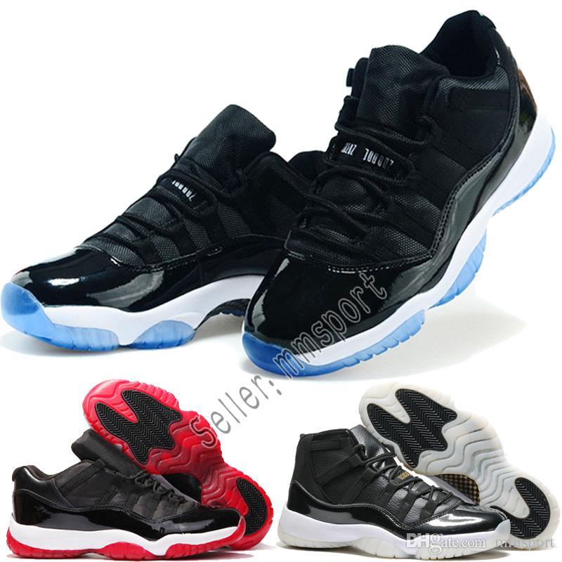 pretty nice c1862 ed0e8 Acquista Nike Air Jordan 11 XI University Blu Scarpe Da Basket Uomo Donna  Bianco Metallizzato Oro Blu Marino 11s Gum Gamma Blu 72 10 Bred Spazio  Marmellata ...