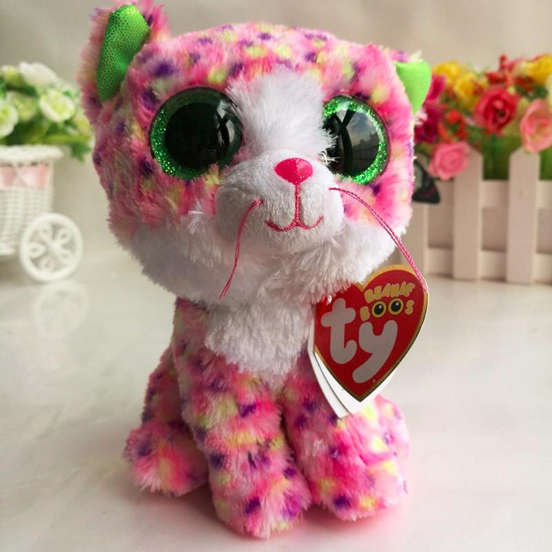 Ty beanie boos 15cm sophie pink cat big eyes plush toys stuffed ty beanie boos 15cm sophie pink cat big eyes plush toys stuffed animals soft toys nano dolls home desk car decorations ty beanie boos beanie boo ty beanie mightylinksfo