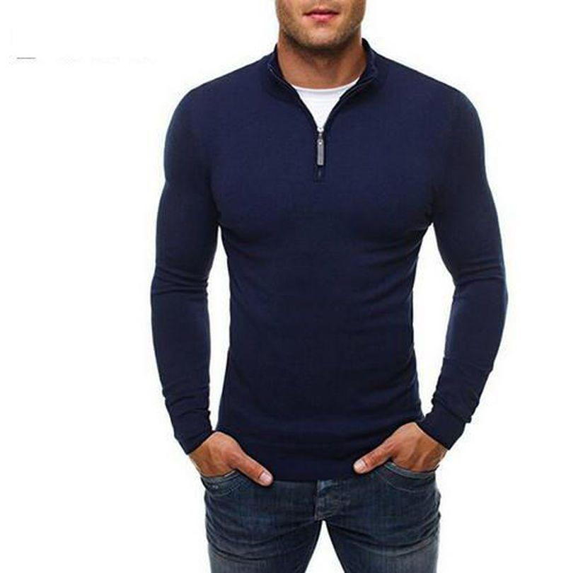 größte Auswahl an bekannte Marke anders LASPERAL herren neue Mode Herbst winter Lässige Pullover Reißverschluss  Dekoration Slim Fit Stricken Herren Pullover Pullover männer strickjacke