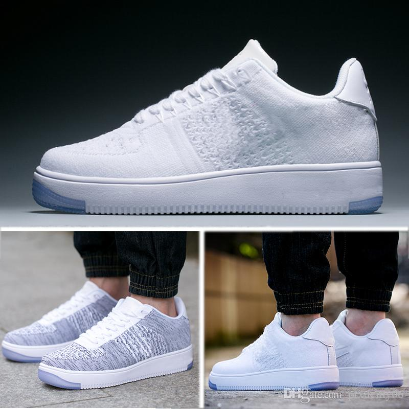 quality design 7a2a7 4a470 Acquista Nike Air Force 1 Flyknit AF1 Lassic AF Sneakers Forza Scarpe Da  Ginnastica Low Cut Bianco Nero Casual Outdoor One 1 Dunk Scarpe Uomo Donna  Sport ...