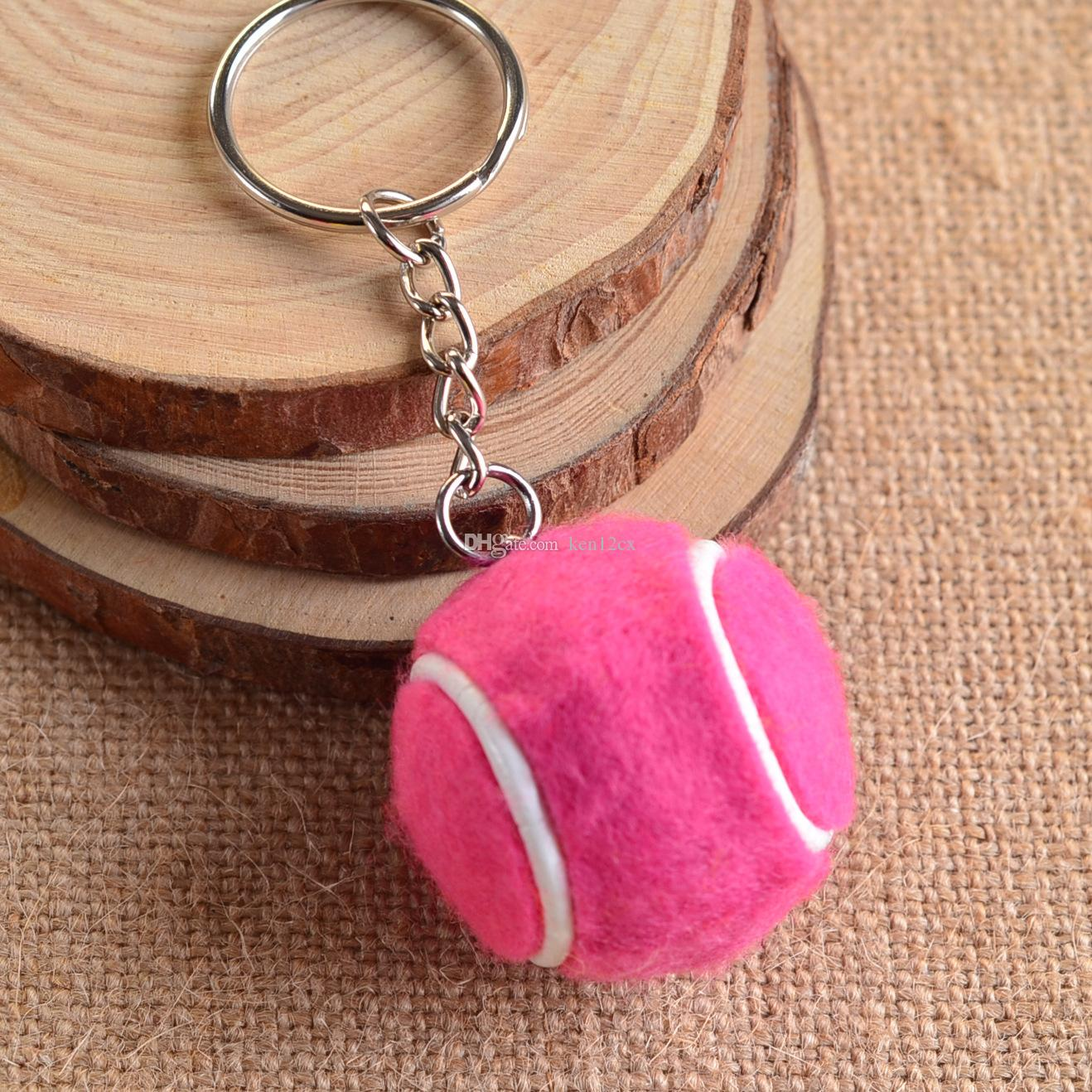 New key chain toys Pendant Tennis Rackets Keychain With Ball Fashion Accessories Souvenir Gift