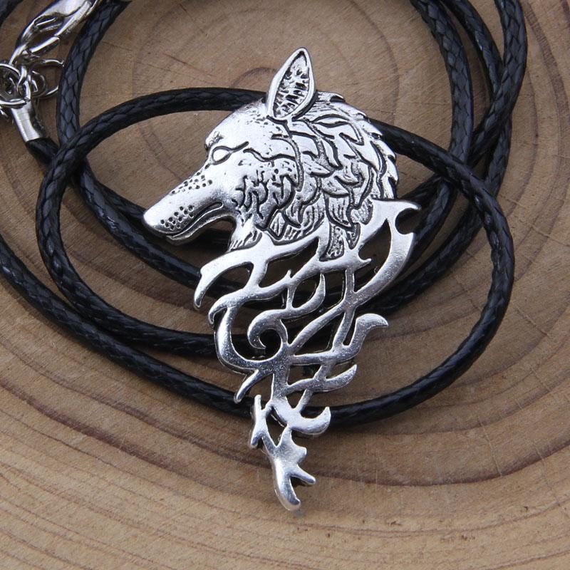 1 Pcs Scandinave Bijoux Pendentif De Vikings Original Nordiques Collier Tête Loup Couleurs Hange 4 Animaux MzpqSUV