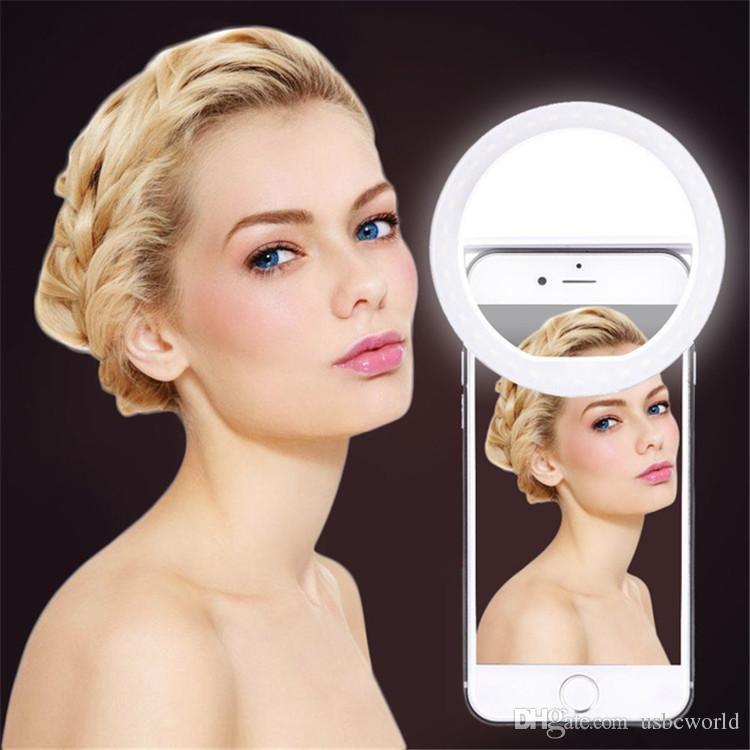 La carga del USB Selfie el flash portátil llevó la fotografía del aumento de la luz del anillo de la fotografía del teléfono de la cámara para el iPhone Smartphone