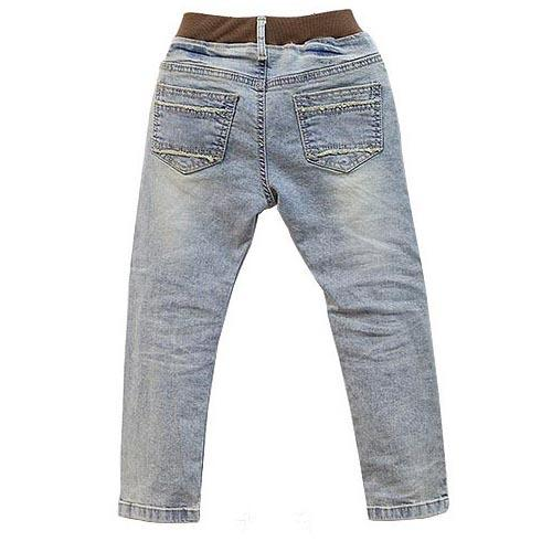 Boys Jeans 2017 Spring New Children clothing Kids Jeans Novelty Mid Loose Boys Pants for age 3 to 12 years old boy jean B131