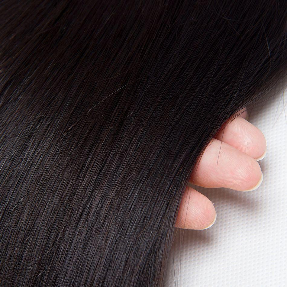 8A Brazilian Virgin Hair Bundles Straight Natural Black Unprocessed Remy Human Hair Weave Peruvian Indian Malaysian Hair Extensions