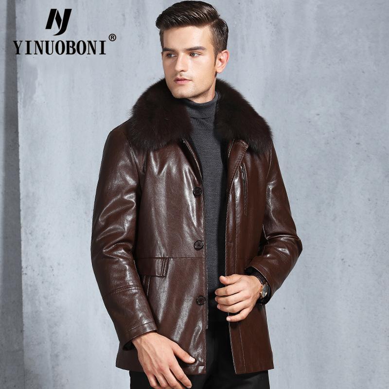 check out afd78 deb04 Giacche di pelle Uomo Inverno Faux Leather Coat Plus Size Long Pu pelliccia  Medioevo Mens regalo per padre / papà
