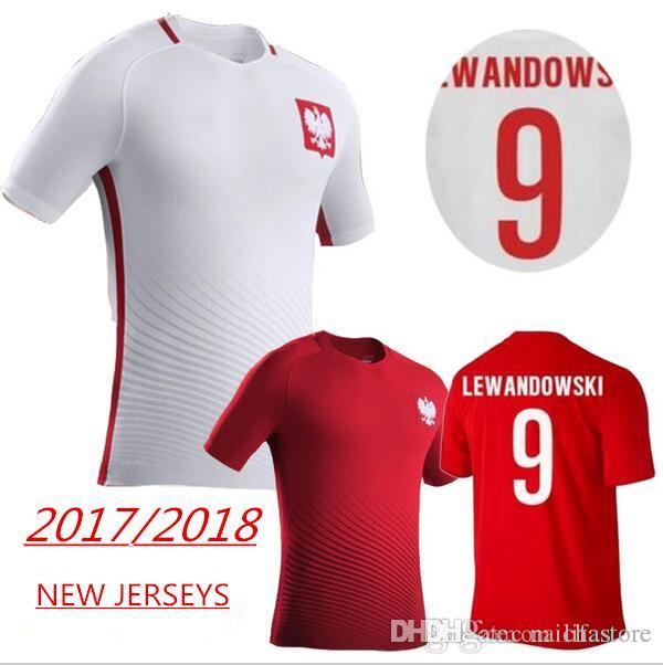 2142003c ... low cost 2018 world cup best quality men poland soccer jersey home  white away red 9