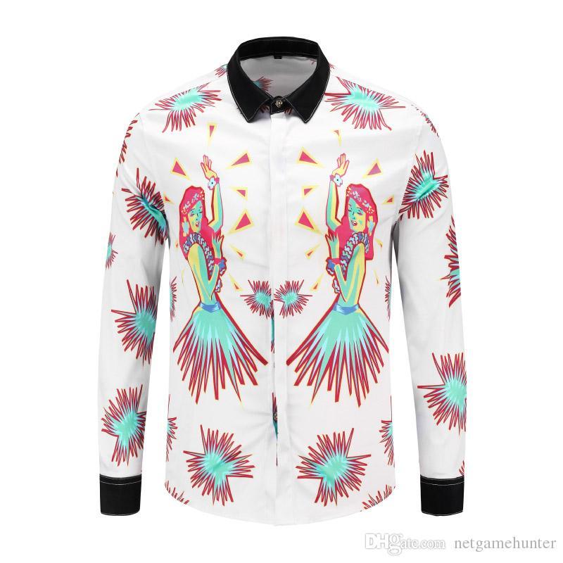 b82f1964029 018Newest PK Autumn Winter Fashion Wave Of Men Floral Print Colour ...