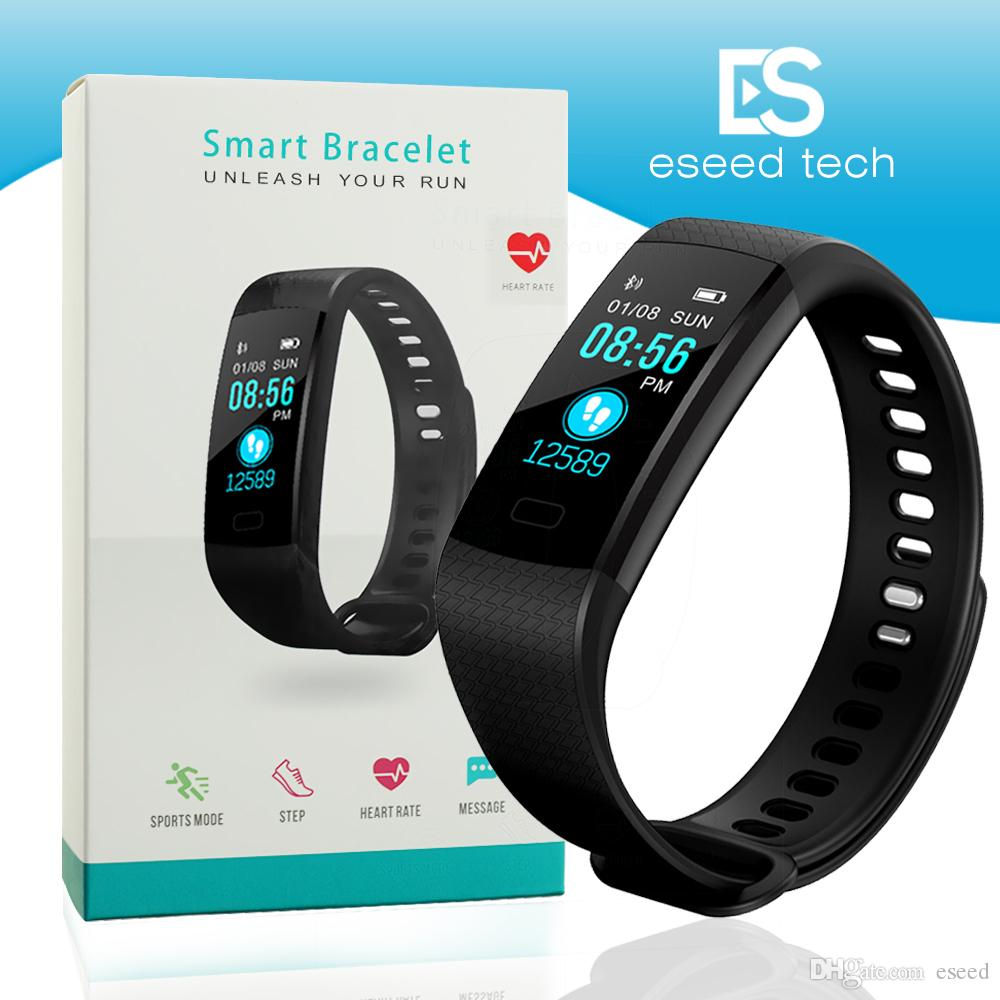 sports time monitor band fitness real pressure blood cyan bracelet t rate heart smart tracker product waterproof smartw