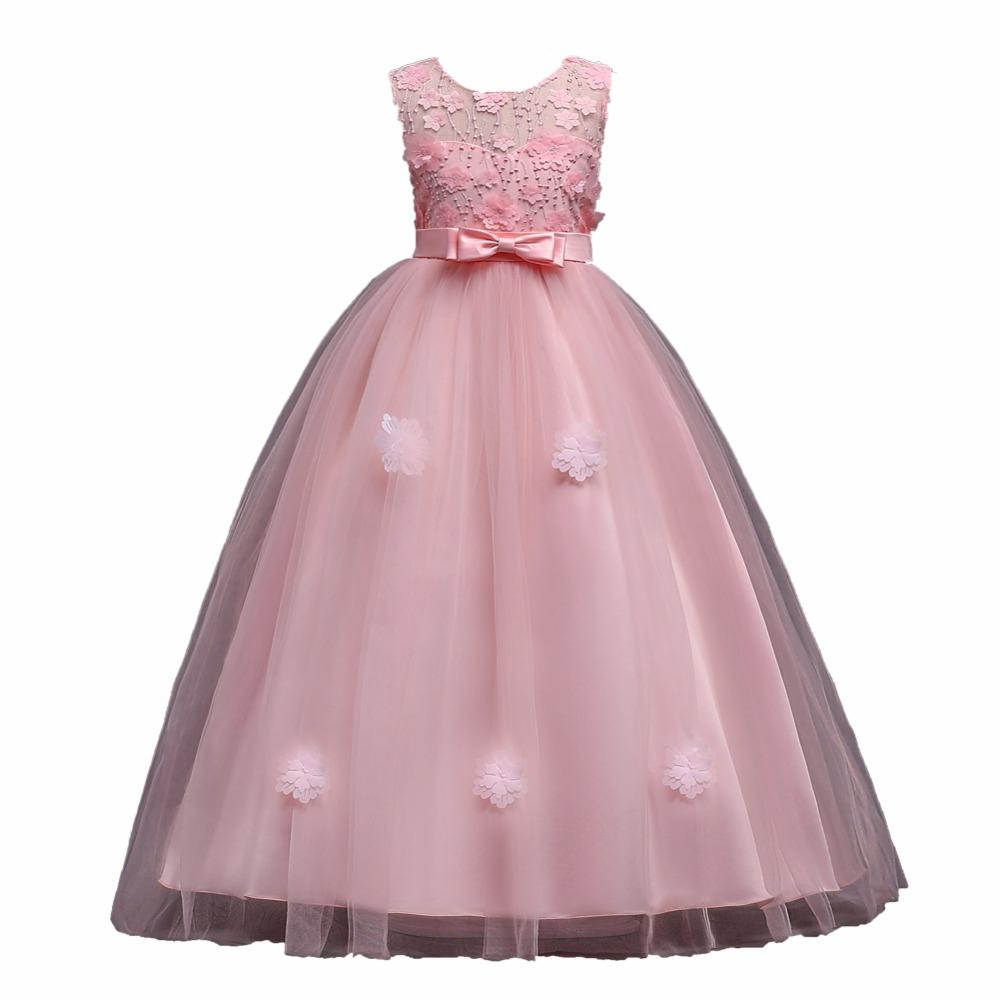 Teenagers Girls Dress 2018 Easter Carnaval Girls Dress Summer Kids Floral Party And Wedding Princess Dresses Children Clothing