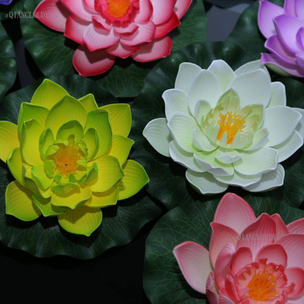 2018 Foam Wedding White 17cm Artificial Foam Fake Lotus Flowers