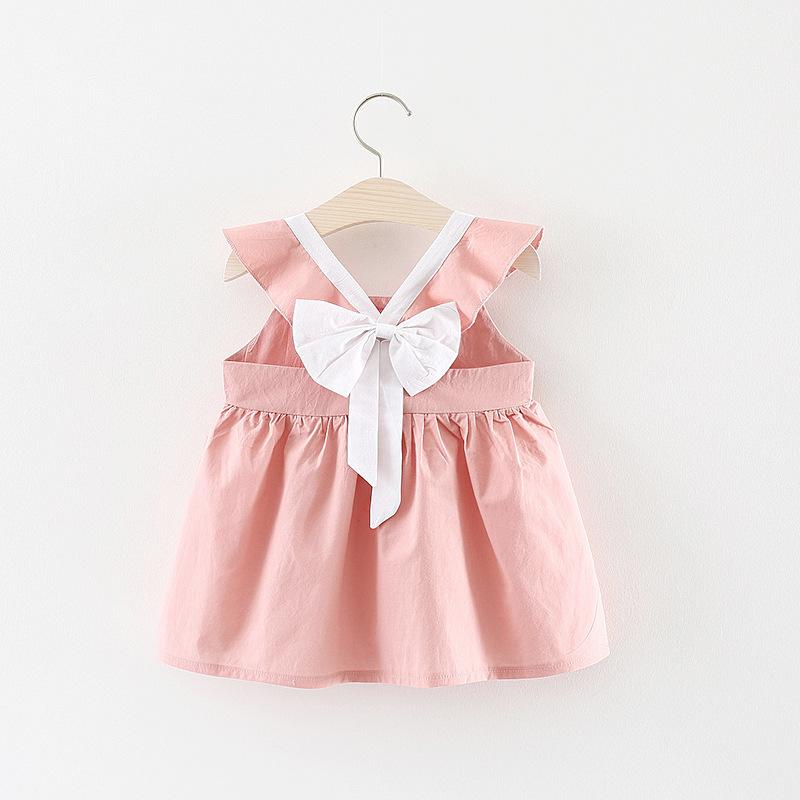 eedf41332c984 BNWIGE Baby Girl Dress Summer Cotton Casual Sleeveless Big Bow Princess  DressCostume For Baby Kids Party Holiday Clothes