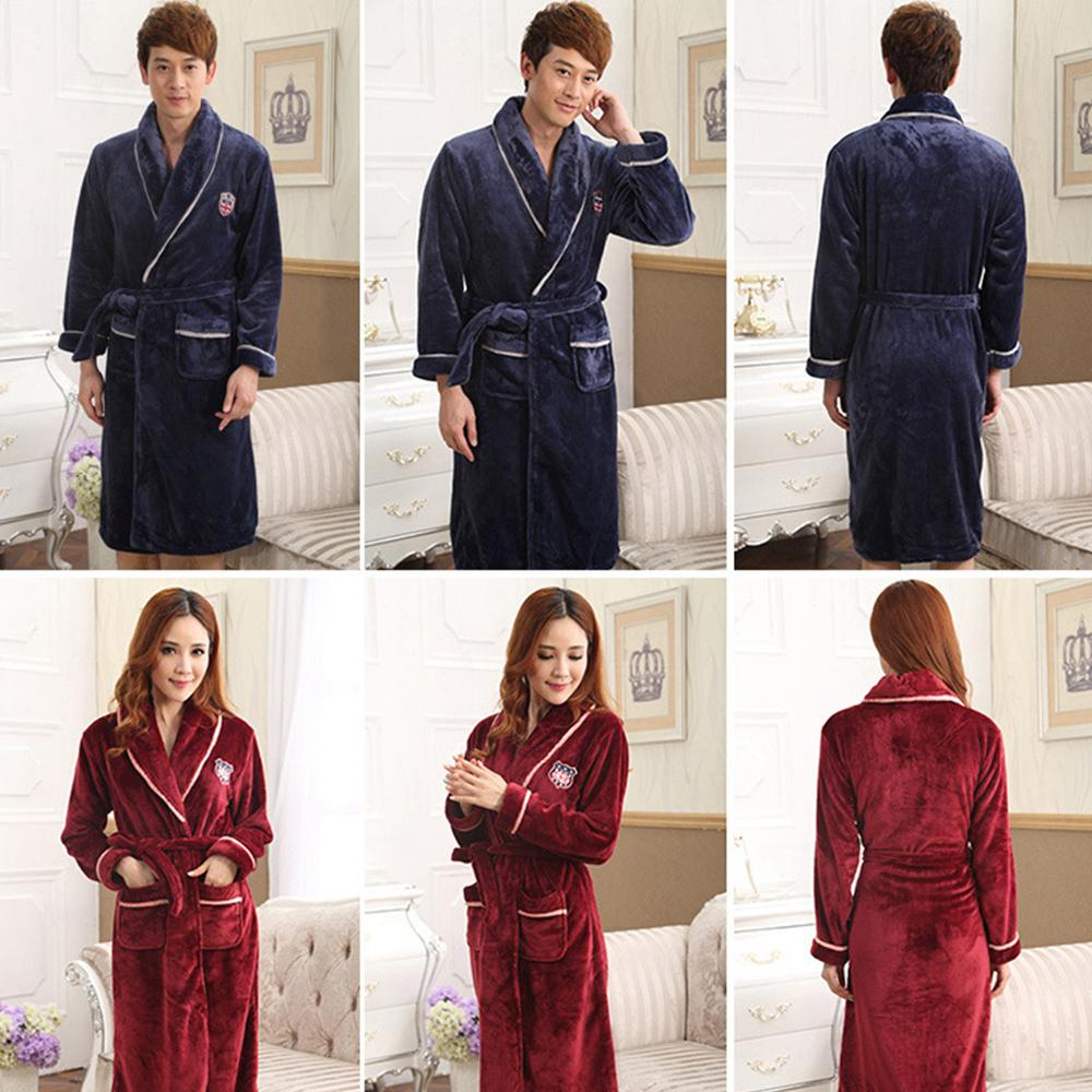 Lovers Dress for Men And Women Warm Super Soft Flannel Coral Fleece ... f7f703653