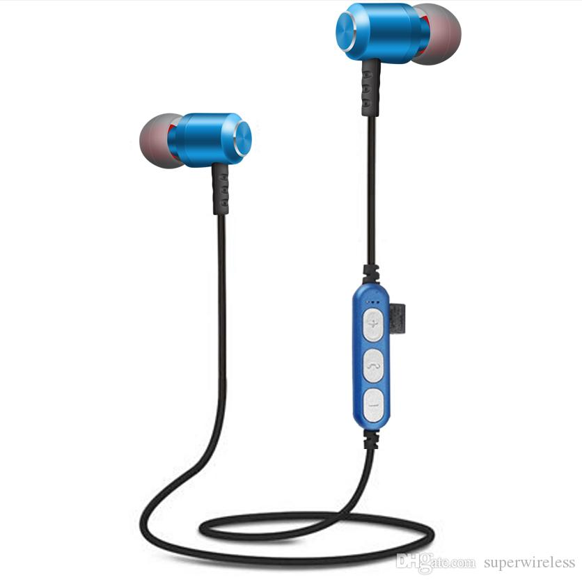 MS-T15 drahtlose Bluetooth-Kopfhörer Kopfhörer Magnetic Sport Stereo BT 4.2 Headset Ohrhörer mit Mic für iphone Samsung