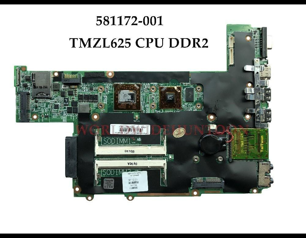 High quality for HP Pavilion DM3-1000 laptop Motherboard 581172-001 AMD TMZL625 CPU DDR2 100% Fully Tested