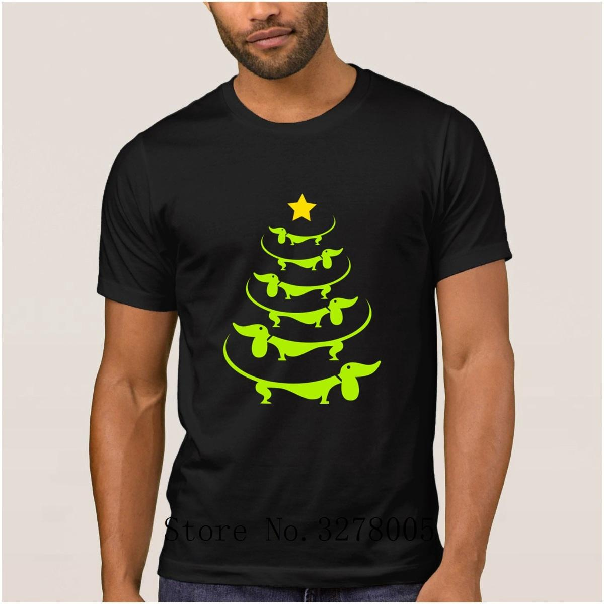 99f95a36734 Brand La Maxpa Doxie Doxie Christmas Tree Fun Men T Shirt Summer Style T  Shirt Mens Clothes Round Collar Tshirt Large Hiphop Top T Shirt Sale Cool  Shirt ...