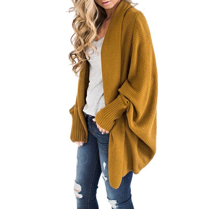 Compre Mujeres Suéter Delantero Abierto De Gran Tamaño Manga Larga De  Murciélago Cardigans De Punto Dobladillo Irregular Asimétrico Escudo Flojo  A  32.36 ... 0a3efb6007c9