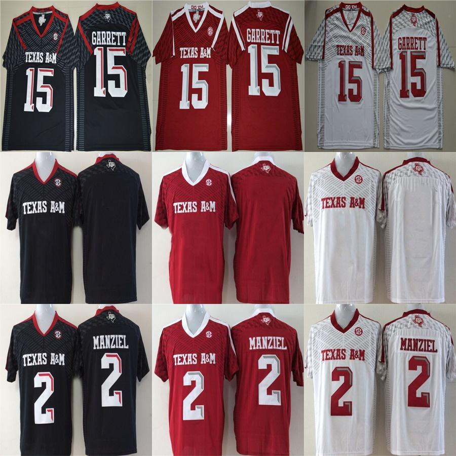 the latest 95cdf 9e39c Texas A&M Aggies 2 Johnny Manziel 9 Ricky Seals-Jones 40 Von Miller Black  White Red Stitched Any Name&Number College Football Jerseys S-6XL