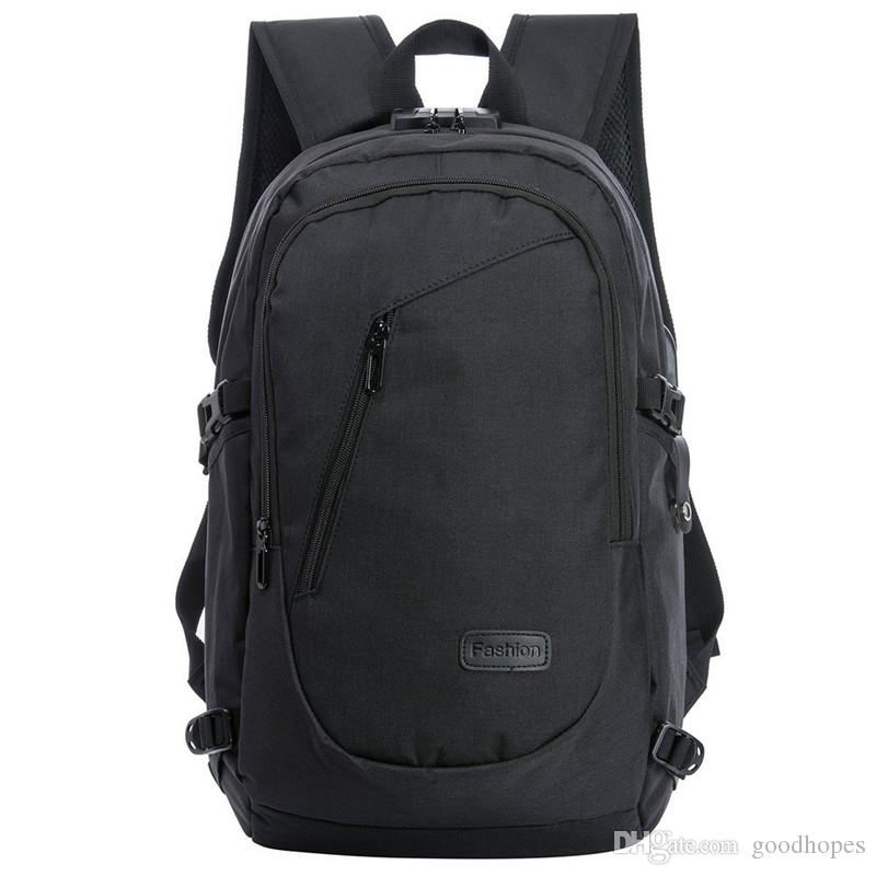 Anti Theft Business Laptop Backpack Water Resistant Computer Bag with USB Charging Port Lightweight College Travel Backpacks Fit 15.6 Laptop