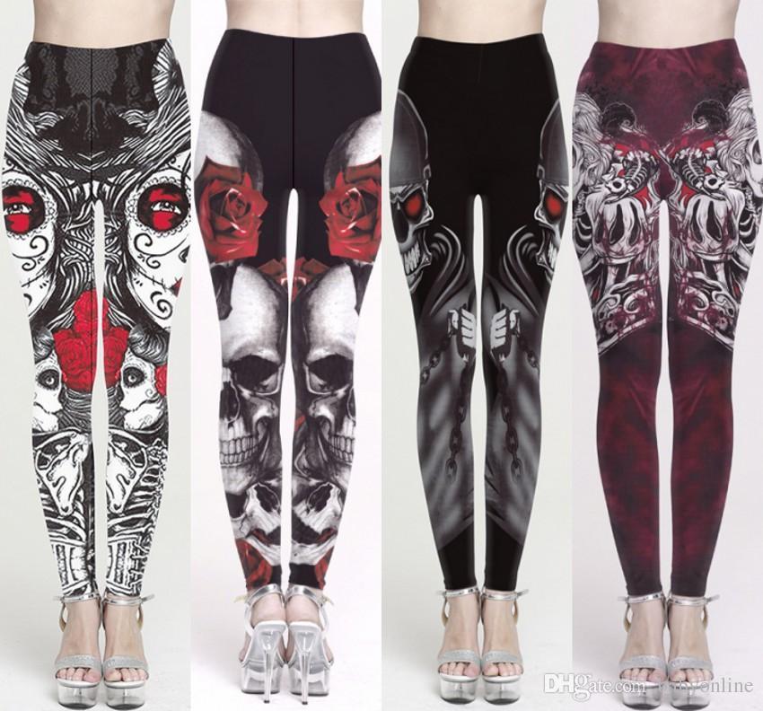 31c8857b1ab72 2019 Plus Size Christmas Halloween Women Legging Yoga Pants 3D ...