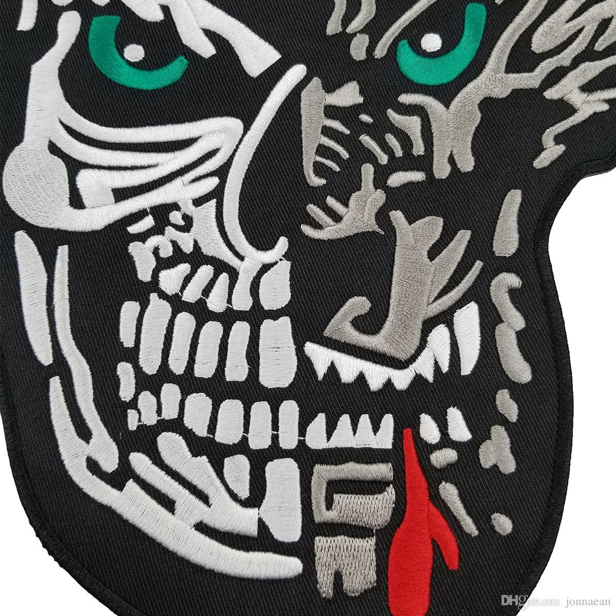 Full SET LONERS NOMADS MC 1% Embroidered Biker Patch Motorcyle Biker Vest Jacket Large Back Patch / Set