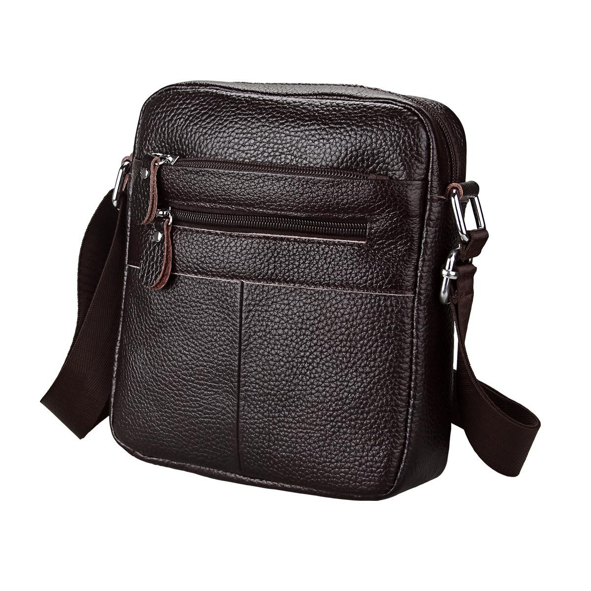 3b81027fda Fashion Men Genuine Leather Men Bag Casual Business Leather Men Messenger  Bag Vintage Men S Crossbody Bag Bolsas Male GW37 Cheap Purses Wholesale  Handbags ...