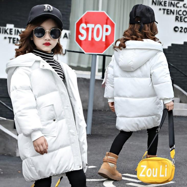 55213aab85a3 Girls Thick Cotton Clothing Winter Long Cotton Coat Down Jacket Children  Warm Children Fashion Korean Style One Kid Down Coat Toddler Boys Down  Jacket From ...