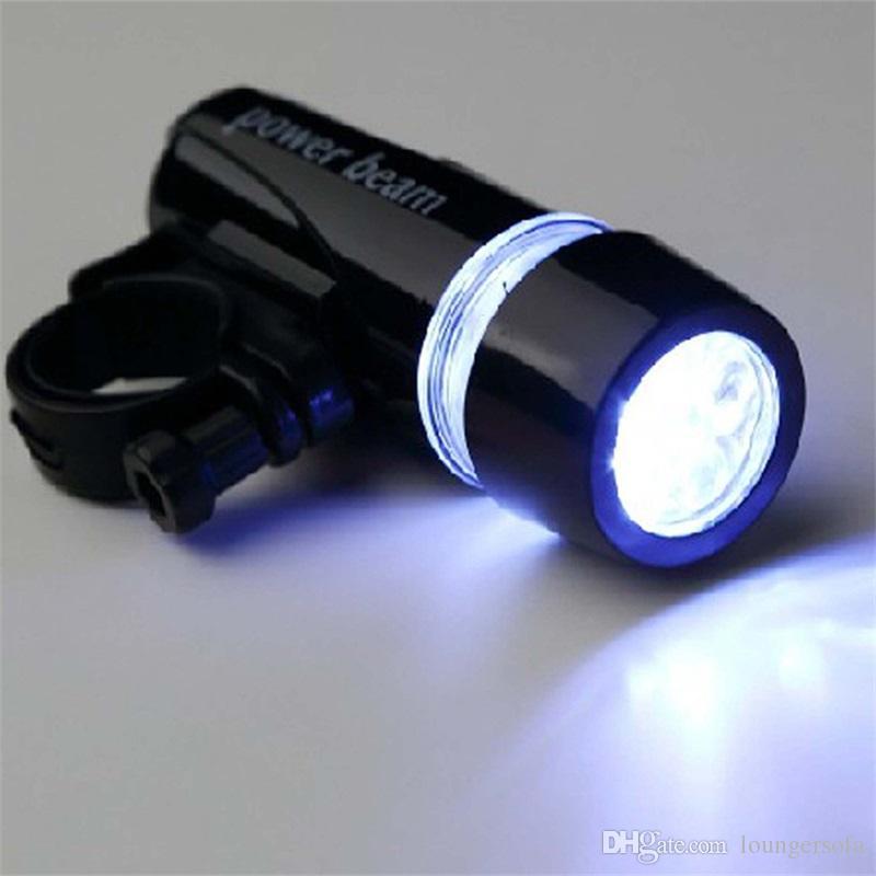 Мощность луча велосипедов лампы Факел 5led огни горный велосипед аксессуары портативный передний головной свет оборудование пластиковый фонарик черный 4см WW