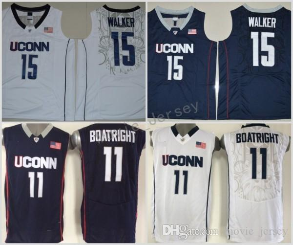 4947eedb4b85 2019 2018 Kemba Walker Uconn Huskies College Basketball Jerseys Navy Blue  15 Kemba Walker 11 Ryan Boatright Stitched University Basketball Jersey  From ...
