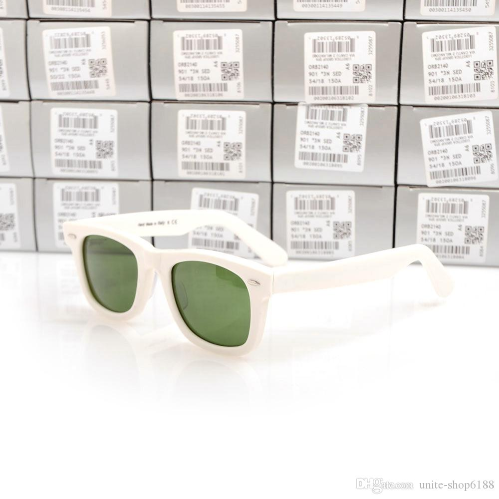 Горячие продажи стекла объектив Зеленый объектив 2140 планка солнцезащитные очки белые солнцезащитные очки белый высокое качество 2140 солнцезащитные очки пляж солнцезащитные очки с футлярами Boxs