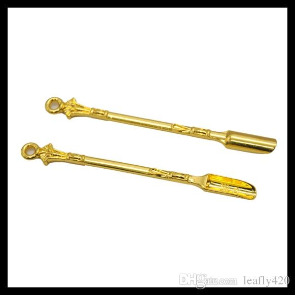 "Gold Wax Carving Tool Pipe Aluminum Material 3.35"" Length Wax Dabber Tool Hookah Smoking Accessories"