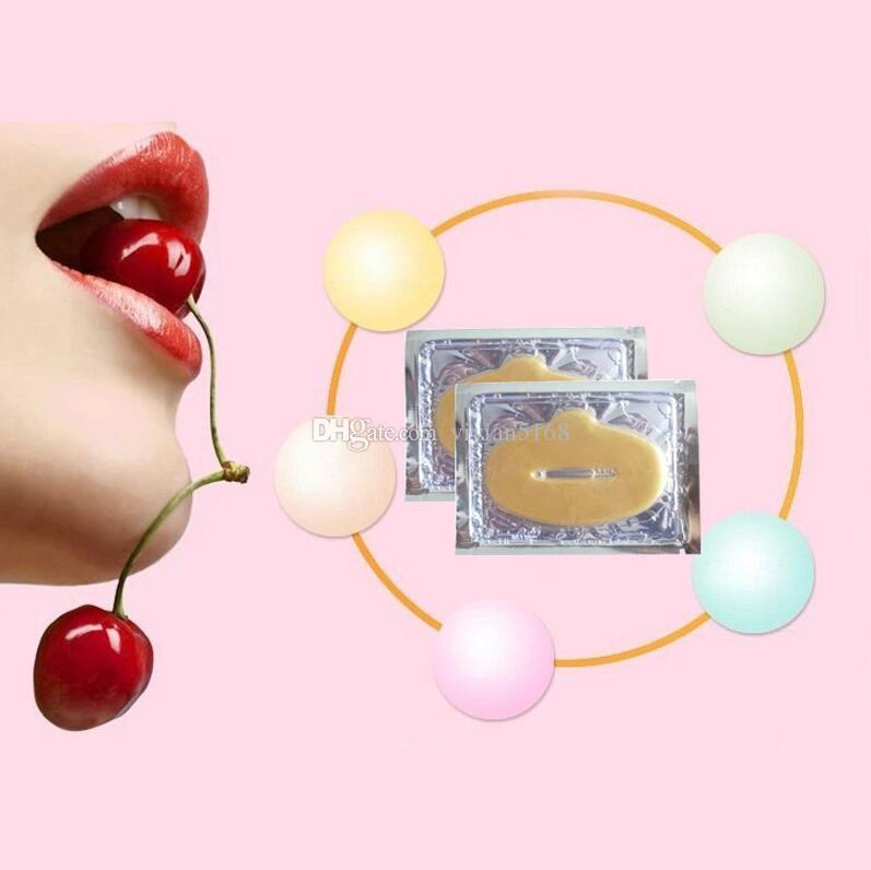 Super Lip Plumper Crystal Collagen Máscara de labios Almohadillas Hidratante Esencia Anti Envejecimiento Arrugas Patch Pad Pad Gel Full Lips Enhancer