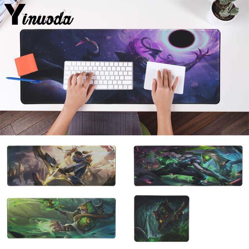 yinuoda top quality for lol dota2 gamers keyboards mat rubber gaming