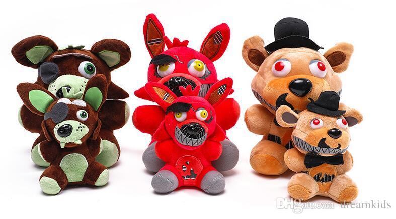 Nuovi giocattoli! 15-18cm FNAF Orso Foxy farcito giocattoli Cartoon Movie cinque notti al Freddy peluche