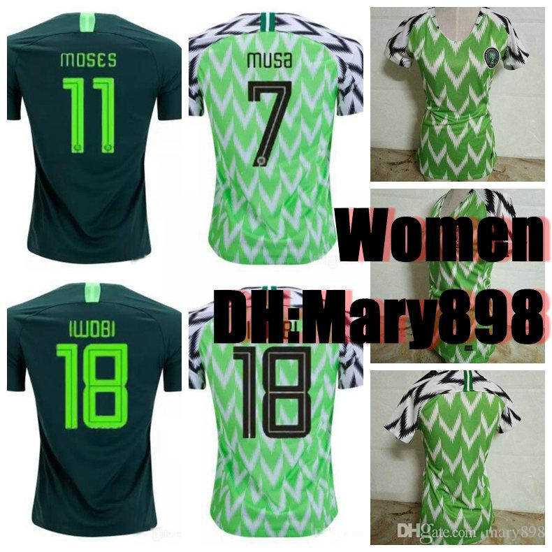 2019 Thai Quality Women 2018 World Cup Nigeria Home Green White Soccer  Jersey Nigeria Soccer Shirt 2018 World Cup Nigerian Football Uniform From  Mary898 3850e769a