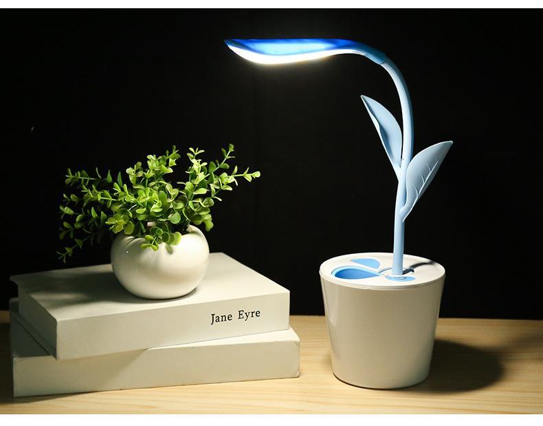 Pot Yeux Lumière Soins Lecture Sans Créative Chambre Veilleuse Des Usb Bureau Rechargeable Niveaux Fleurs Fil De 3 Led Lampe 0w8OXnPk
