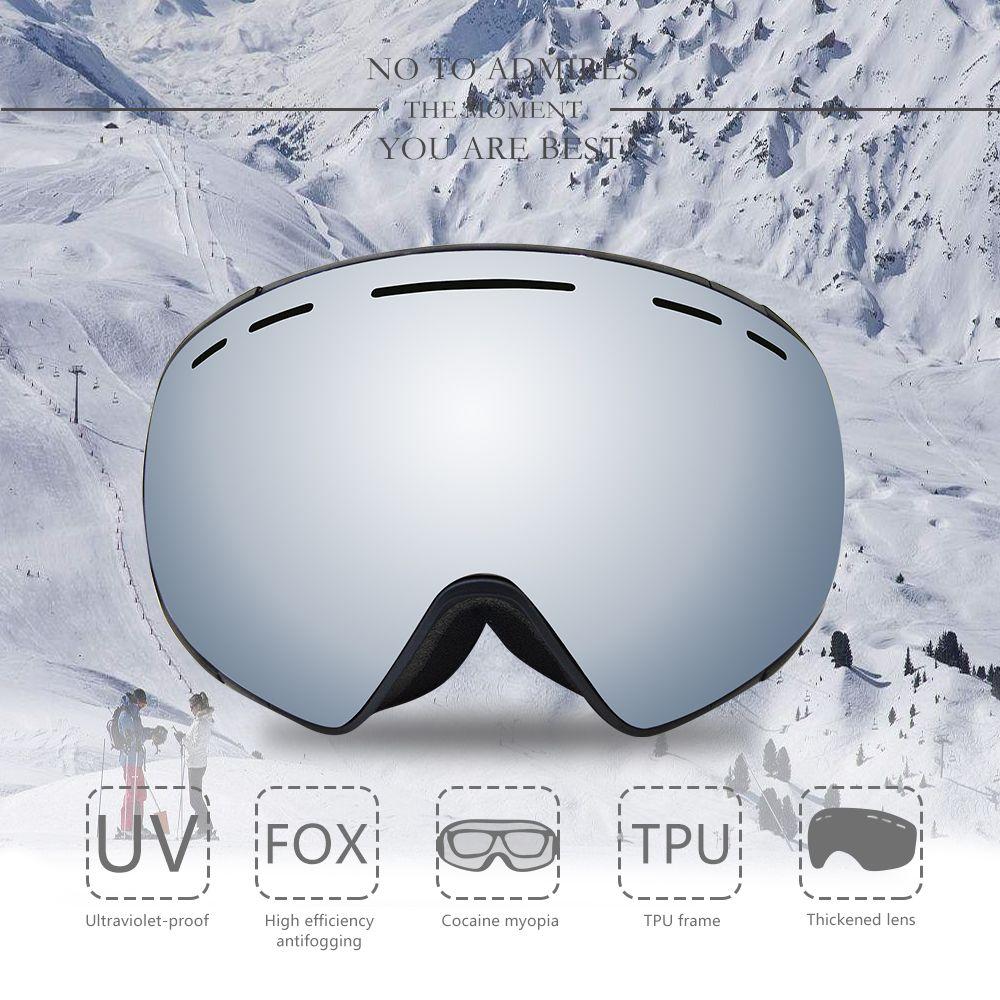 af219712d9 Compre 2018 Esquí Snowboard Gafas Gafas Grandes Esféricas Esquí Hombres  Mujeres Visión Grande Profesión Nieve Esquí Gafas Prevención Rayos  Ultravioleta A ...