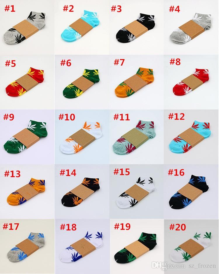 es de la Navidad Niños plantlife calcetines calcetines de algodón de alta calidad para las mujeres de hombre de deporte del monopatín hoja de arce hiphop calcetines A-603