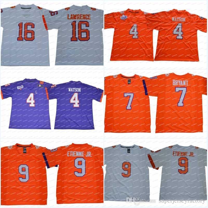 2019 Stitched Clemson Tigers 16 Trevor Lawrence 4 Deshaun Watson 9 Travis  Etienne Jr. 7 Austin Bryant College Football Jerseys From  Superjerseyfactory b4550f797