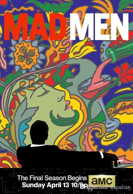 Free Shipping MadMen TV Series High Quality Art Posters Print Photo paper  16 24 36 47 inches