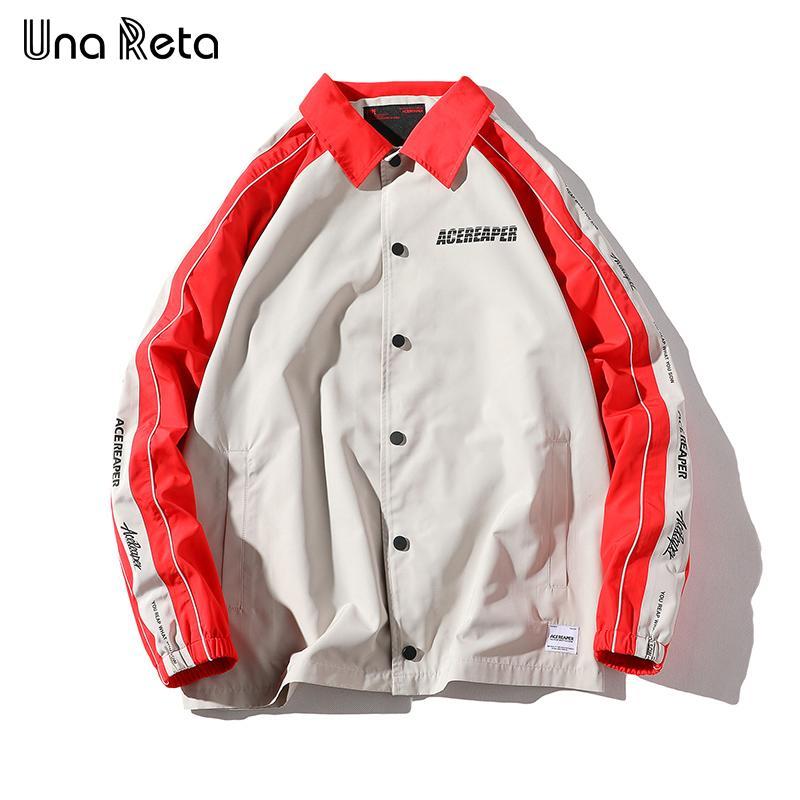 f03fbca5ad Una Reta Jacket Mens New Arrivals Hip Hop Printing stitching Outwear  Fashion casual Coaches Jackets Men Streetwear Coat