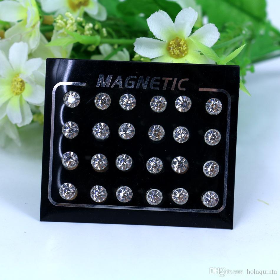 Brincos magnéticos 4-6mm No buraco redondo magnético magnético brincos para mulheres brincos punk homens