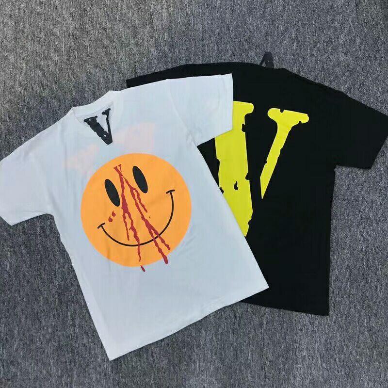 Nuevo estilo Classic Vlone camisetas Hombres Mujeres 1: 1 High Quality Big V Pop Up Fragmento Fragmento Top Tees Fashion V Friends T-shirts