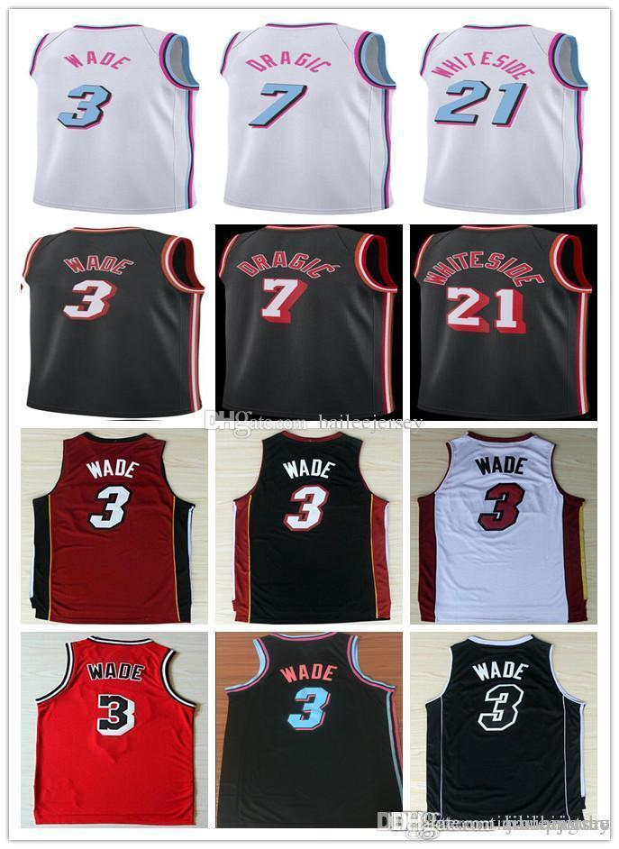 66b2b119f 2018 Ncaa 2018 City Edition Men White 3 Dwyane Wade 7 Goran Dragic 21  Hassan Whiteside Retro College Basketball Jersey From Jianhuistore