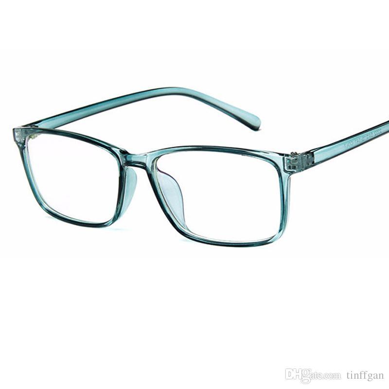 59b378d1f0 2018 New Square PC Eyeglasses Frame With Coating Lens Men Women Optical  Plain Mirror Eye Glasses Frames For Prescription Myopia Glasses Optical  Eyeglass ...
