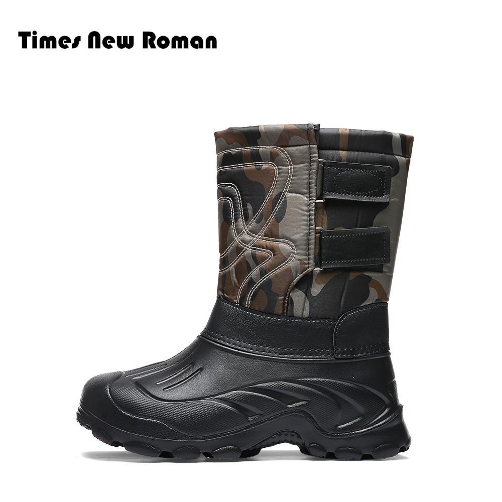 new styles ae8d9 dab9a Times New Roman Super Warm Herren Winterstiefel für Männer Warme  Wasserdichte Regen Stiefel Schuhe Herren Knöchel Schnee Plus größe 40 ~ 46