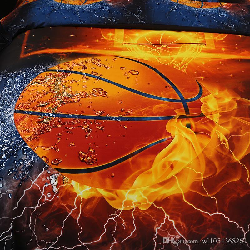 Heimtextilien 3D Gedruckt Kong Fu Basketball Bettwäsche Set Bettbezug Kissenbezug Tagesdecke 2orBettbezug Sets