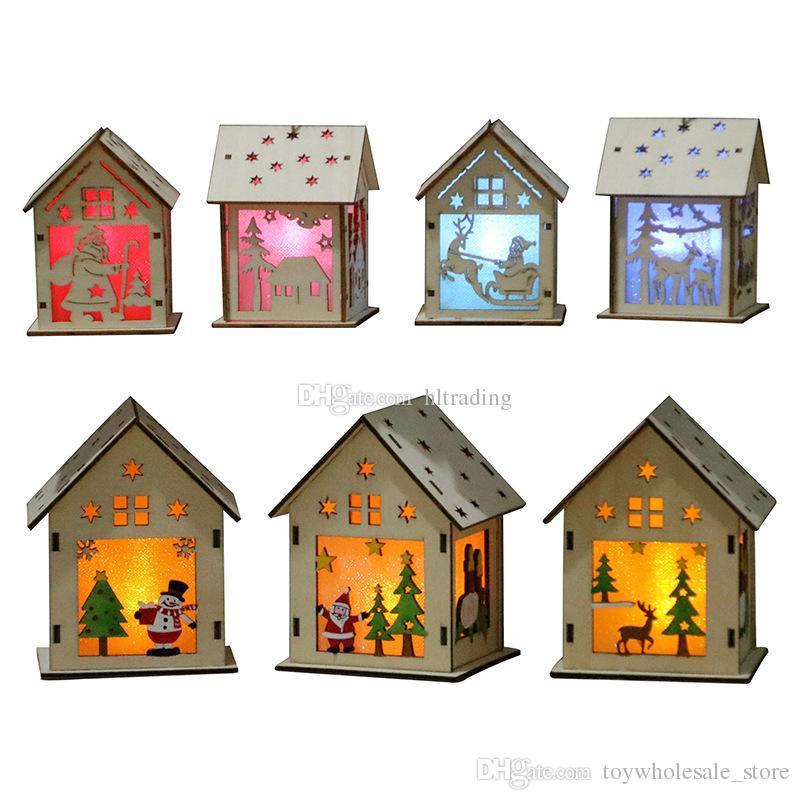 Acheter Bricolage Maison De Larbre De Noël Suspendus Ornements De