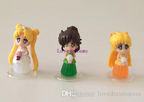 Janpanese Anime Sailor Moon figure PVC Doll Figure Phone Keychain pendant Gifts